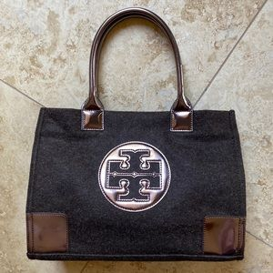 TORY BURCH | Ella Metallic Bronze and Brown Tote
